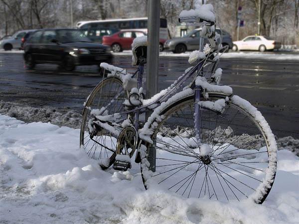 Zimowa ulica. Berlin.